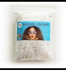 Confetti metallic wit 10 mm 250 gram