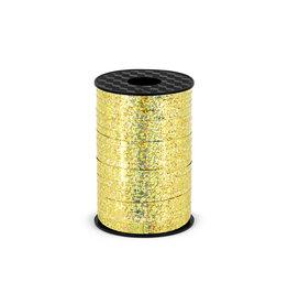 Rol lint goud glitter 5 mm 225 meter
