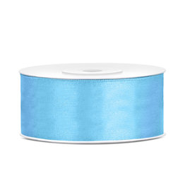 Satijn lint baby blauw 25 mm 25 meter