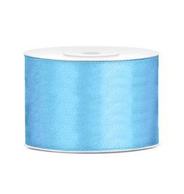 Satijn lint baby blauw 50 mm 25 meter