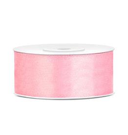 Satijn lint baby roze 25 mm 25 meter