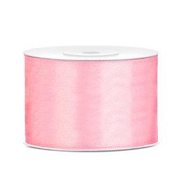Satijn lint baby roze 50 mm 25 meter