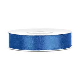 Satijn lint blauw 12 mm 25 meter
