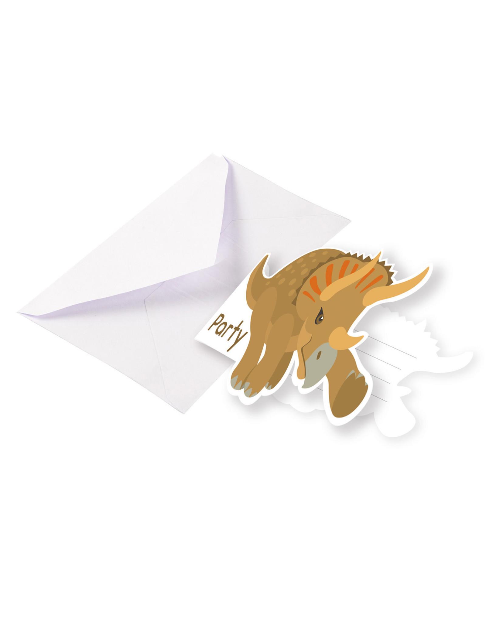 Amscan dino uitnodigingen 8 stuks