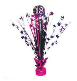 Amscan sparkling tafelstandaard 18 jaar roze