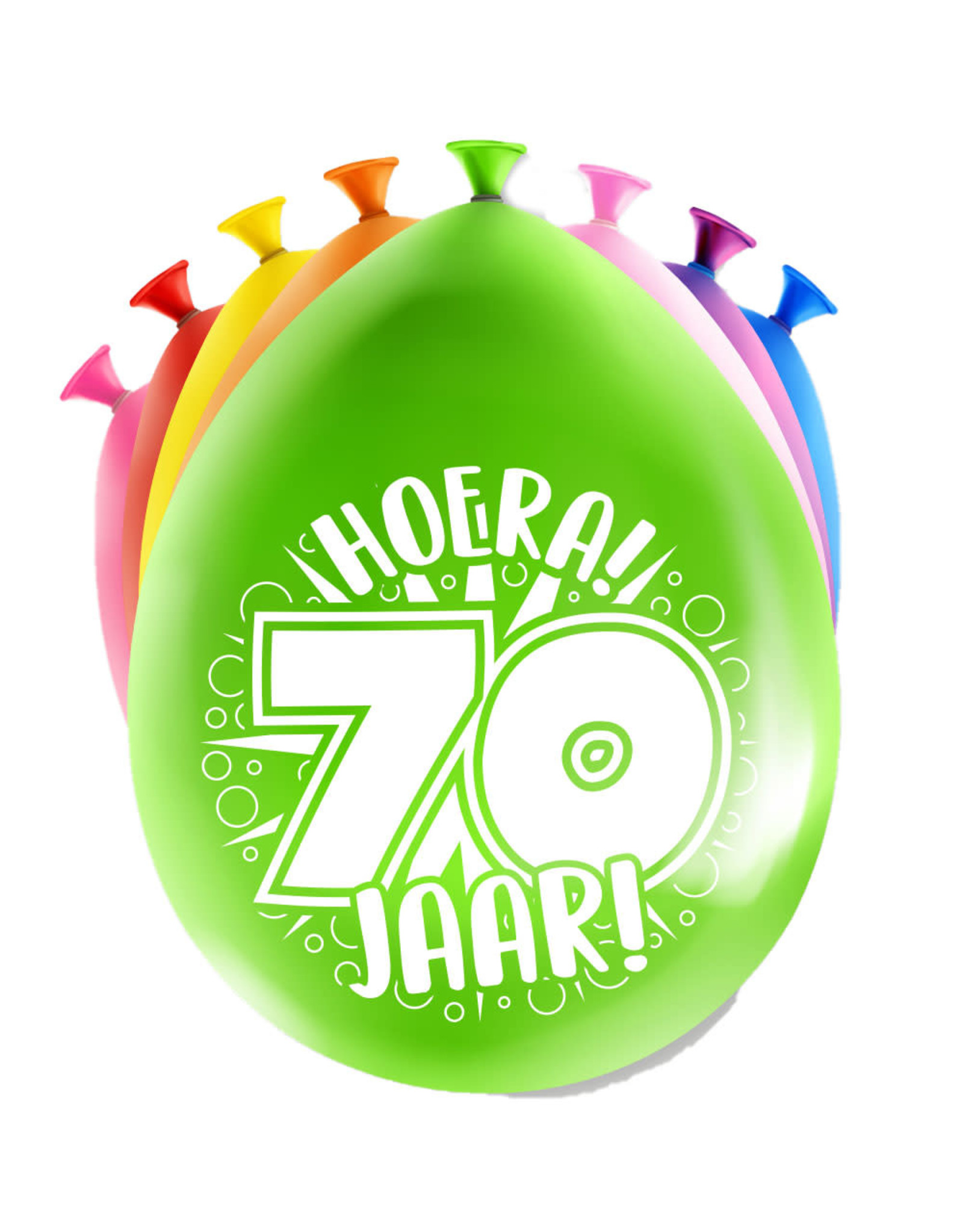 8 party ballonnen 70 jaar