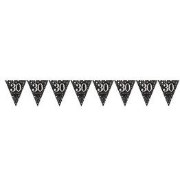 Amscan sparkling vlaggenlijn 30 jaar zilver 4 meter