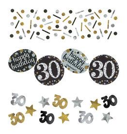 Amscan sparkling tafelconfetti 30 jaar zilver