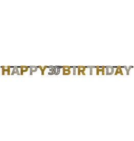 Amscan sparkling letterslinger 30 jaar goud zilver