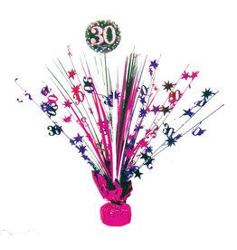 Amscan sparkling tafeldecoratie 30 jaar roze