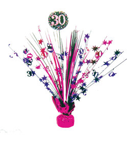 Amscan sparkling tafelstandaard 30 jaar roze
