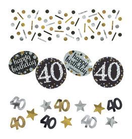 Amscan sparkling tafelconfetti 40 jaar zilver