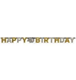 Amscan sparkling letterslinger 40 jaar goud zilver