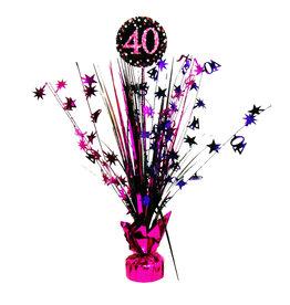 Amscan sparkling tafeldecoratie 40 jaar roze