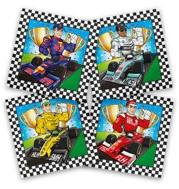 Formule 1 servetten 20 stuks 33 x 33 cm