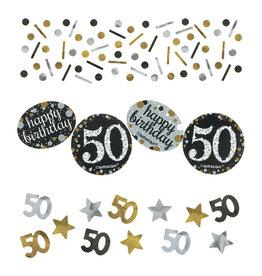 Amscan Sparkling tafelconfetti 50 jaar zilver