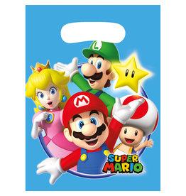 Amscan Super Mario uitdeelzakjes 8 stuks