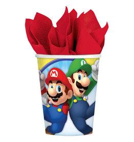 Super Mario kartonnen bekers 8 stuks