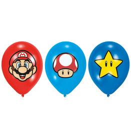 Amscan super mario ballonnen 6 stuks