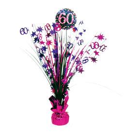 Amscan sparkling tafelstandaard 60 jaar roze