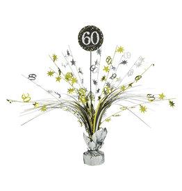 Amscan sparkling tafelstandaard 60 jaar zilver