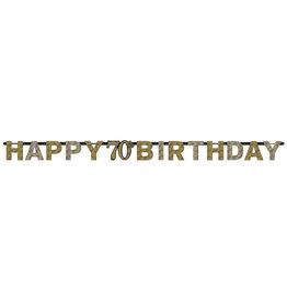 Amscan sparkling letterslinger70 jaar goud zilver
