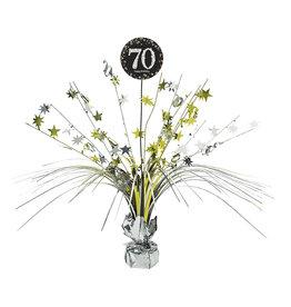 Amscan sparkling tafelstandaard 70 jaar zwart zilver