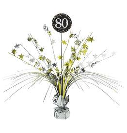 Amscan sparkling tafelstandaard 80 jaar zwart zilver