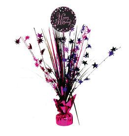 Amscan sparkling tafelstandaard happy birthday roze