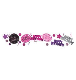 Amscan sparkling tafelconfetti happy birthday roze