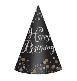 Amscan sparkling birthday feesthoedjes 8 stuks