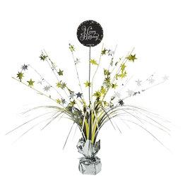 Amscan sparkling tafelstandaard happy birthday zilver