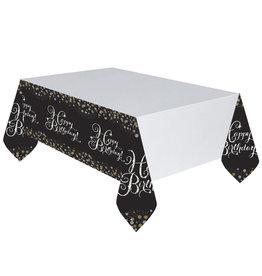 Amscan sparkling tafelkleed zilver zwart 137 x 259 cm