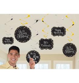 Amscan sparkling hangdecoratie zwart zilver