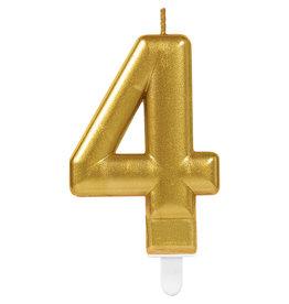 Amscan sparkling gouden kaars cijfer 4