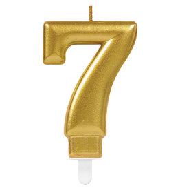 Amscan sparkling gouden kaars cijfer 7