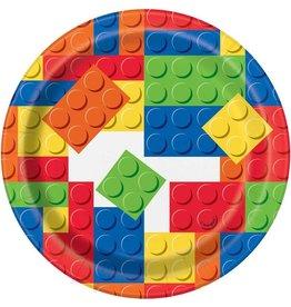 Haza lego bordjes 17 cm 8 stuks