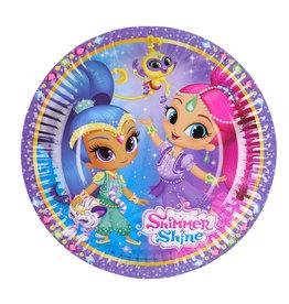 Shimmer & Shine borden 18 cm 8 stuks