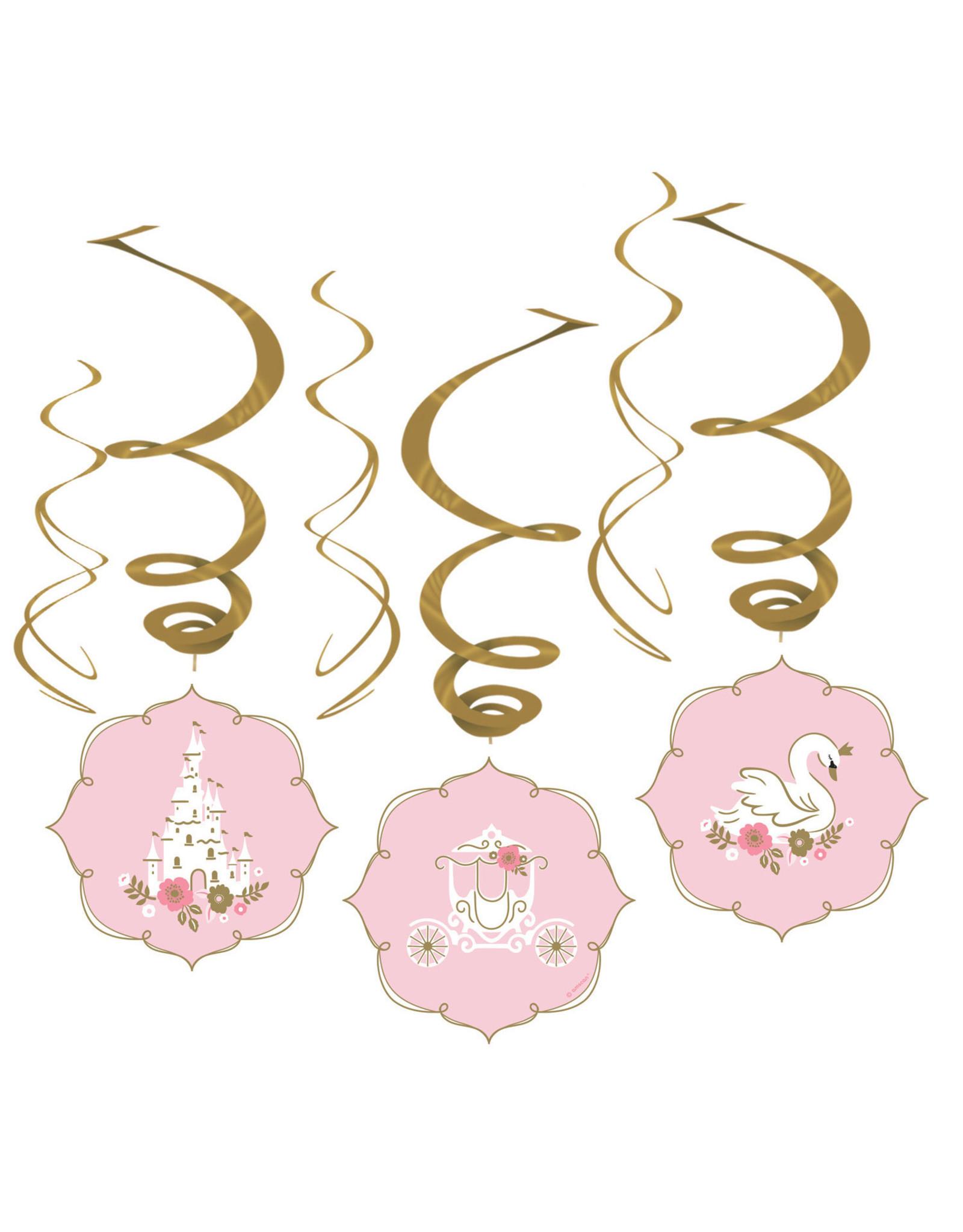 Amscan lovely swan hangdecoratie 6-delig