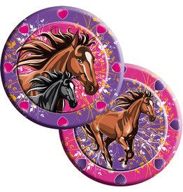 Kartonnen borden paarden 23cm