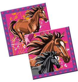 Servetten paarden 33x33cm
