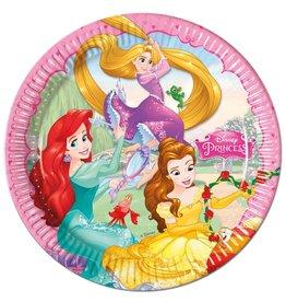Disney Princess kartonnen borden 23 cm 8 stuks