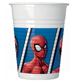 Spiderman plastic bekers 8 stuks