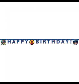 Spiderman letterslinger Happy Birthday 2 meter