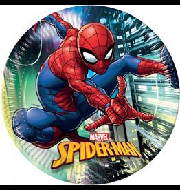 Spiderman borden 23 cm  8 stuks