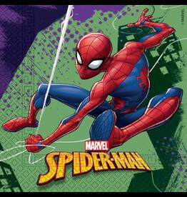 Spiderman servetten  20 stuks 33 x 33 cm