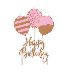 Amscan kaars happy birthday rose goud