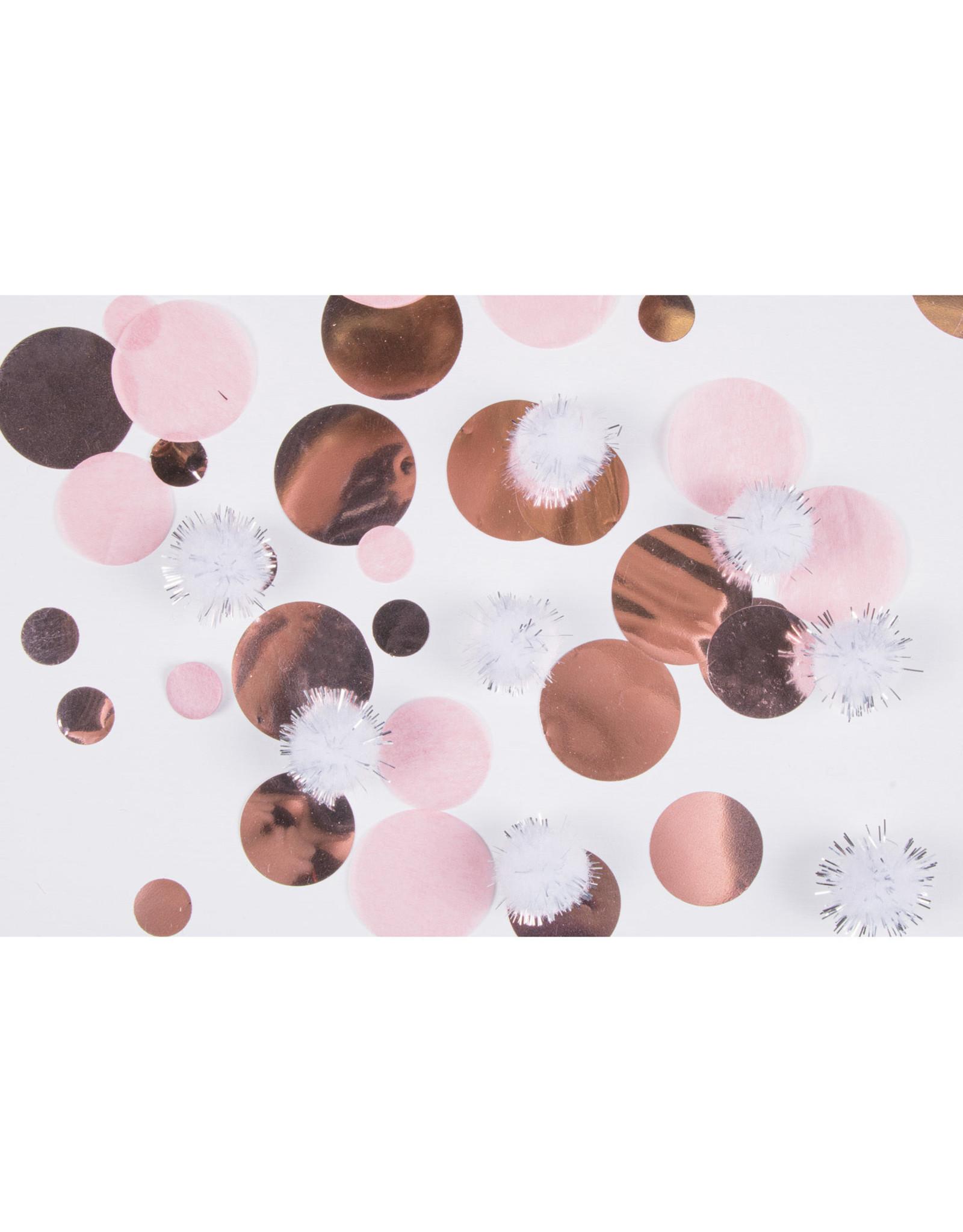 Amscan confetti rose goud/roze mix 12 gram