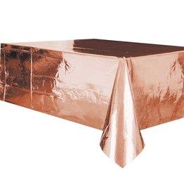 Unique tafelkleed rose goud metallic 137 x 274 cm