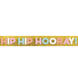 Amscan hip hip hooray banier  XL 3.04 meter